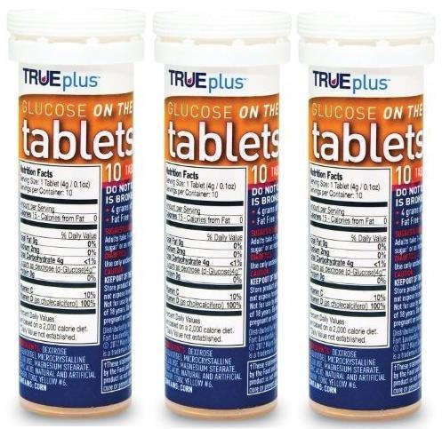 TRUEplus® Glucose Tablets, Orange, 10 count tube (3)
