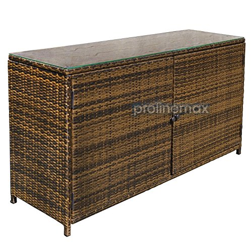 Espresso quot wicker rattan buffet serving cabinet table