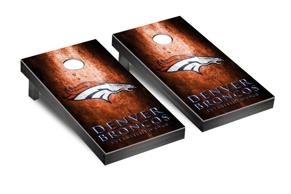 NFL Denver Broncos Museum Version Football Corn hole Game Set, One Size by Victory Tailgate (Image #1)