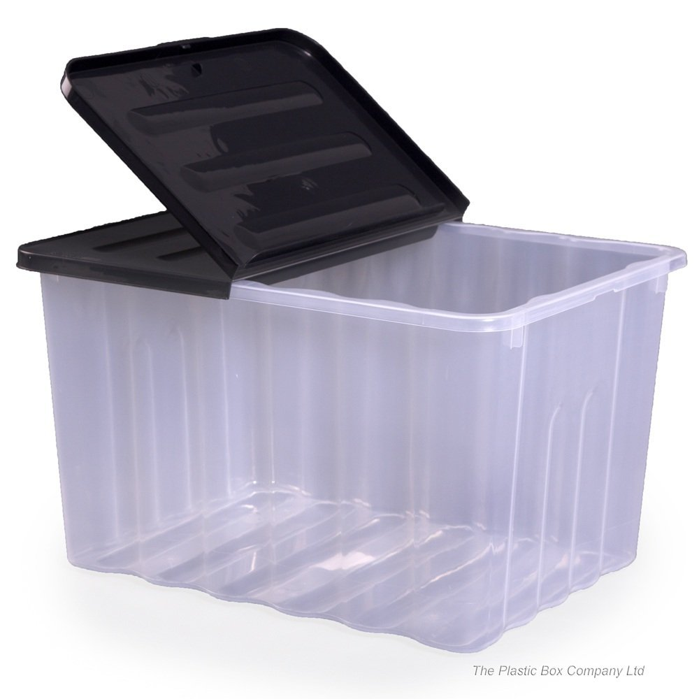 Strata 110lt Super Nova Large Plastic Storage Box and Lid (Pack of 2) Clear  sc 1 st  Amazon UK & EXTRA LARGE CLEAR PLASTIC STORAGE BOX WITH LID 133 LITRE: Amazon.co ...