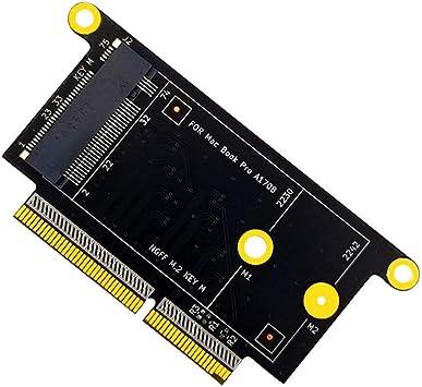 JMT Adaptador de disco duro M.2 NVMe?M-Key?2230 2242 SSD Adaptador de tarjeta de conversión para 2017 PRO A1706 A1707 A1708 Modelo sin controladores: Amazon.es: Electrónica