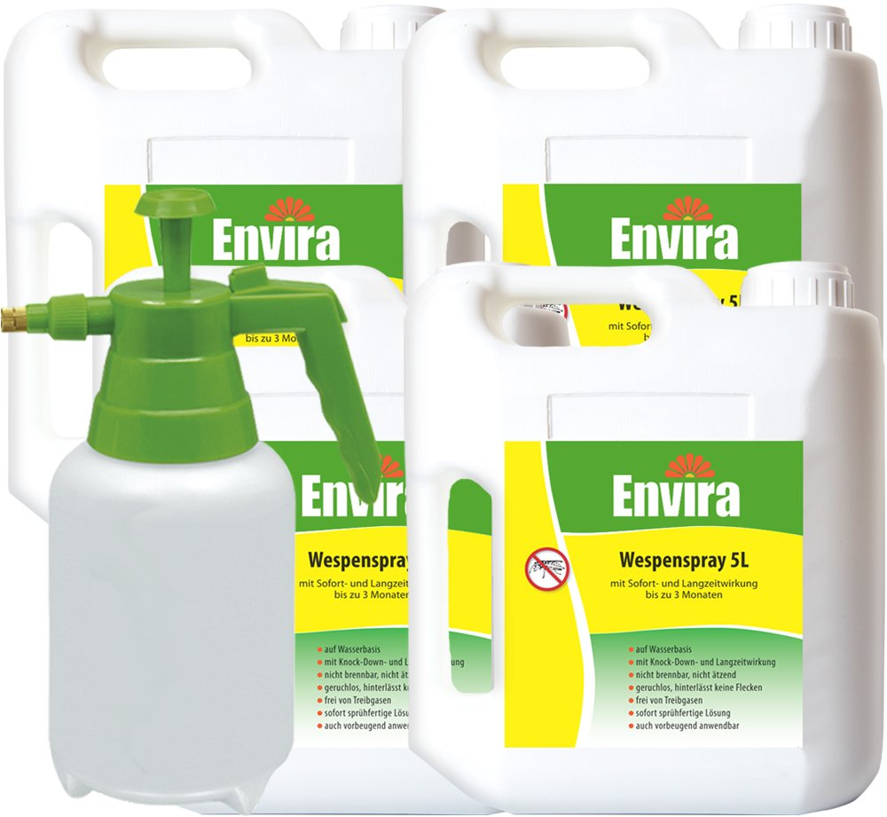 ENVIRA Anti-Wespen 4x5Ltr + 2Ltr Sprüher