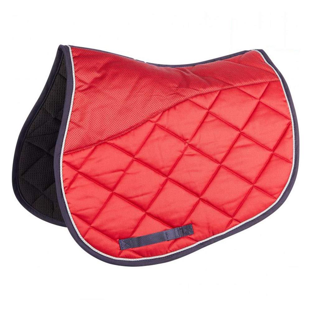 YINSONG Mantilla - Mantilla de Caballo para Uso General Ecuestre Mantilla Acolchada Cómoda de Tela de Silla de Montar, Rojo