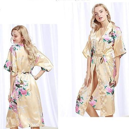 SYY Pajama Suit, Cotton with Pocket Bathrobe,Pajamas Polyester Summer Female 483515e19