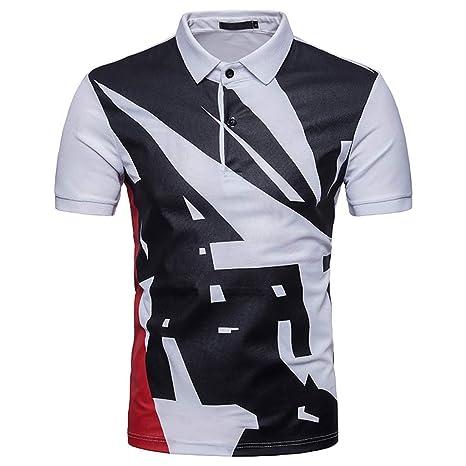 G&Armanis shop Polo Delgado para Hombre, Camiseta de Manga Corta ...