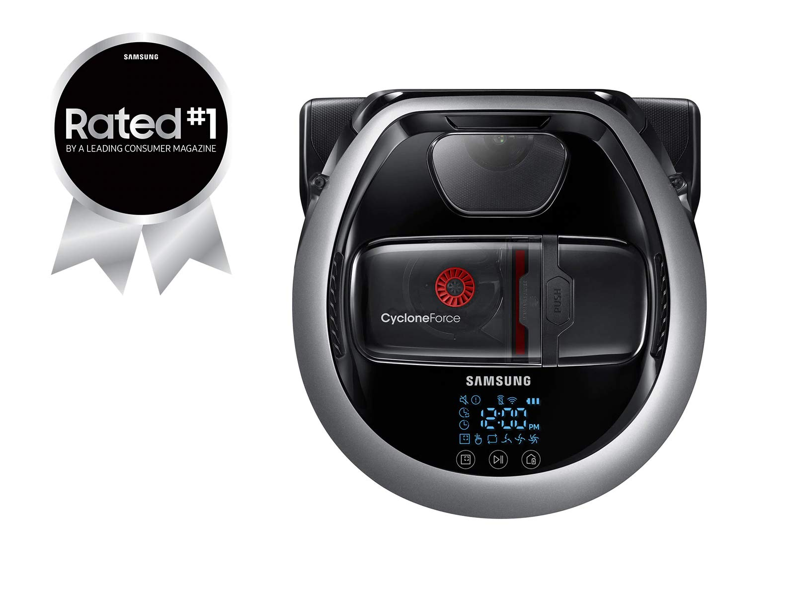 Samsung POWERbot R7065 Robot Vacuum Wi-Fi Connectivity, Ideal for Carpets, Hard Floors, and Pet Hair with 5160Pa Strong Performance, Works with Amazon Alexa and the Google Assistant by Samsung