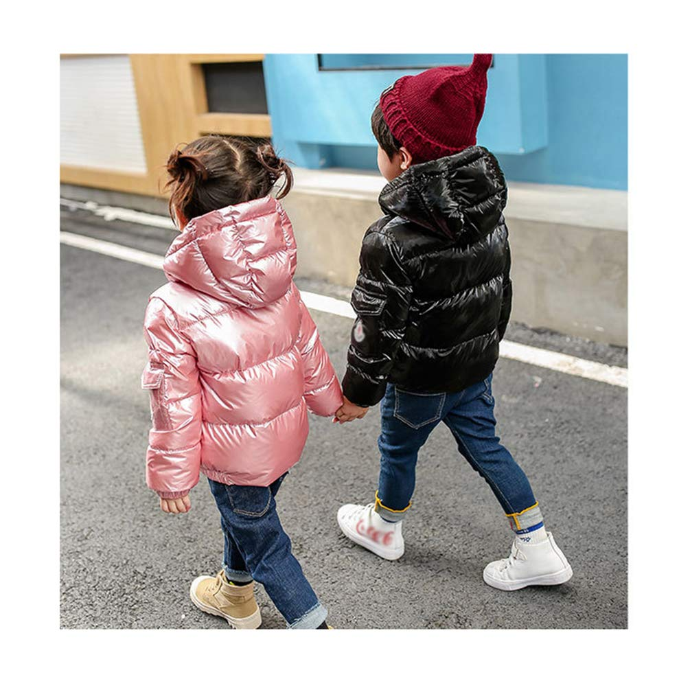 GladiolusA Giacca Piumino con Cappuccio Cappotti Classico Ultra Leggero del Cappotto Parka Zipper Invernale per Unisex Bambine E Bambino Giacche A Vento