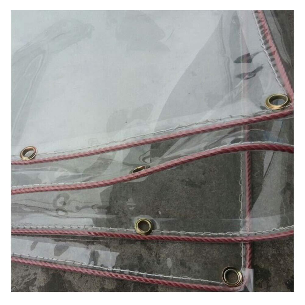 CLEAR 2.29X2.8M Tent, rainproof sunscreen BÂche imperméable résistante au Vent Transparente résistante à la Pluie Transparente Gardez au Chaud Le PVC étanche à l'humidité Anti-vieillisseHommest, Tailles