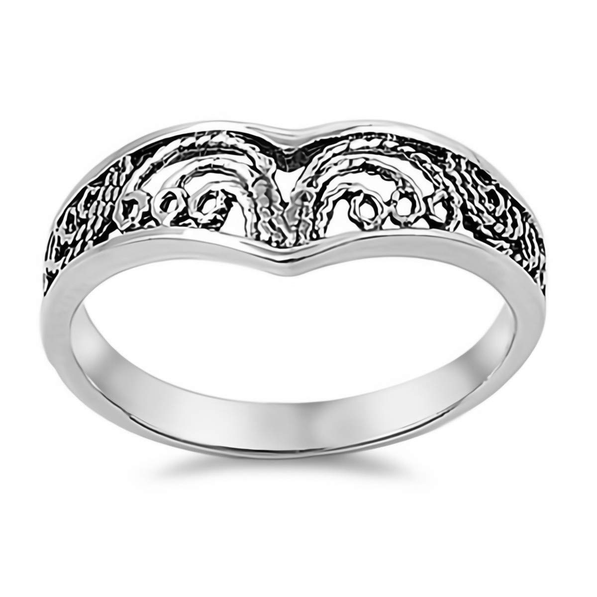 Filigree Cute Jewelry Gift for Women in Gift Box Glitzs Jewels 925 Sterling Silver Ring