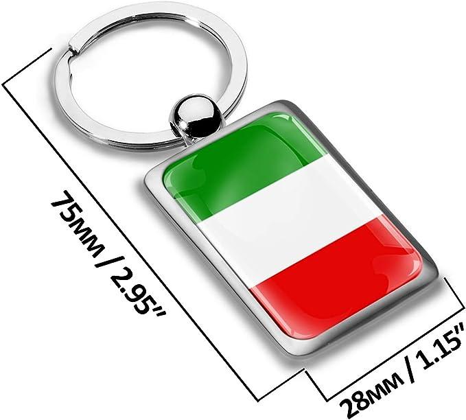 Skino Schlüsselanhänger Italien Italy Flagge Fahne Metall Keyring Auto Schlüssel Geschenk Metall Schlüsselanhänger Kk 221 Auto