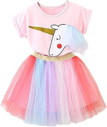 Amazon.com: Conjunto de disfraz de unicornio para niñas ...