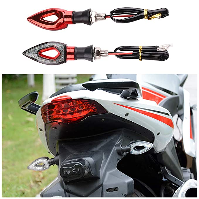 Malayas 4PCS motorcycle turn signal light arrow 12V 12LEDS waterproof universal indicators lamp blinker light for Motorbike Scooter Quad Cruiser Off Road