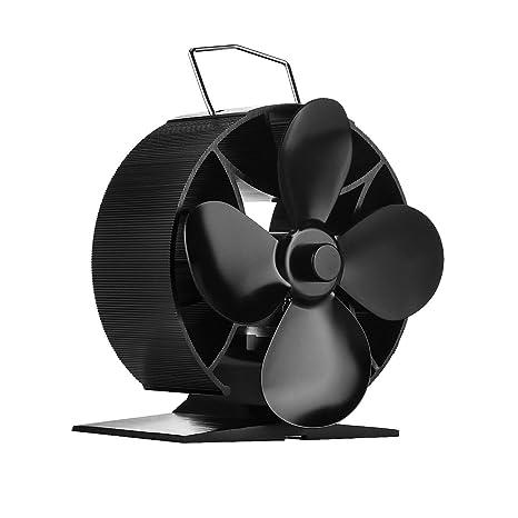 Ventilador de estufa quemador estufa Ventilador Nuevo diseño madera de estufa ventiladores 4 hojas para madera