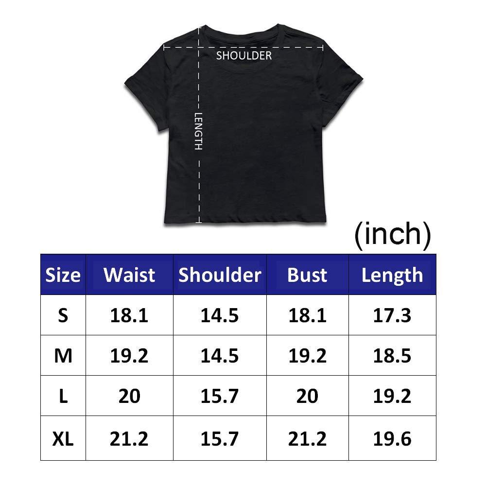 VANMASS Cute Dragon3 Womens Short Sleeves Crop Top T-Shirts