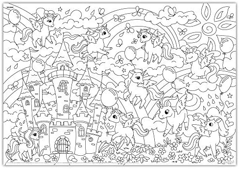 - Amazon.com: O'Kroshka Big Giant Colouring Poster Colorings For Children  Unicorns Baby. Coloring Pages For Kids And Adults. Color Me Posters For  Family! (38.5 X 26.7 In): Toys & Games