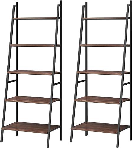 Best modern bookcase: Tangkula Ladder Shelf Set of 2
