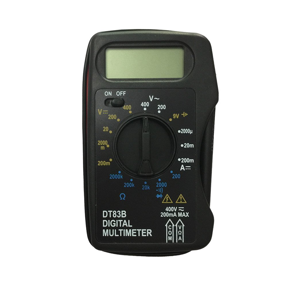OLSUS DT83B LCD Handheld Digital Multimeter for Home and Car - Black + Blue