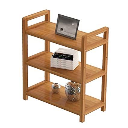 Book Shelf 3 Tier Bookshelf Solid Wood Landing Child Bookcase Multifunction Storage Corner