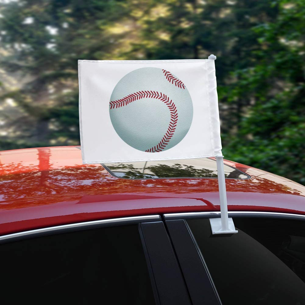 GRAPHICS /& MORE Baseball Ball Car Truck Flag with Window Clip On Pole Holder