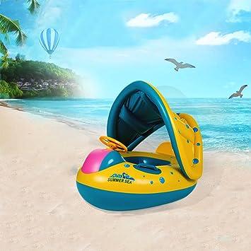 Kinderbadespaß Kinder Babyboot Sonnenschutz Schwimmsitz Schwimmring Schwimmhilfe Schwimmreifen