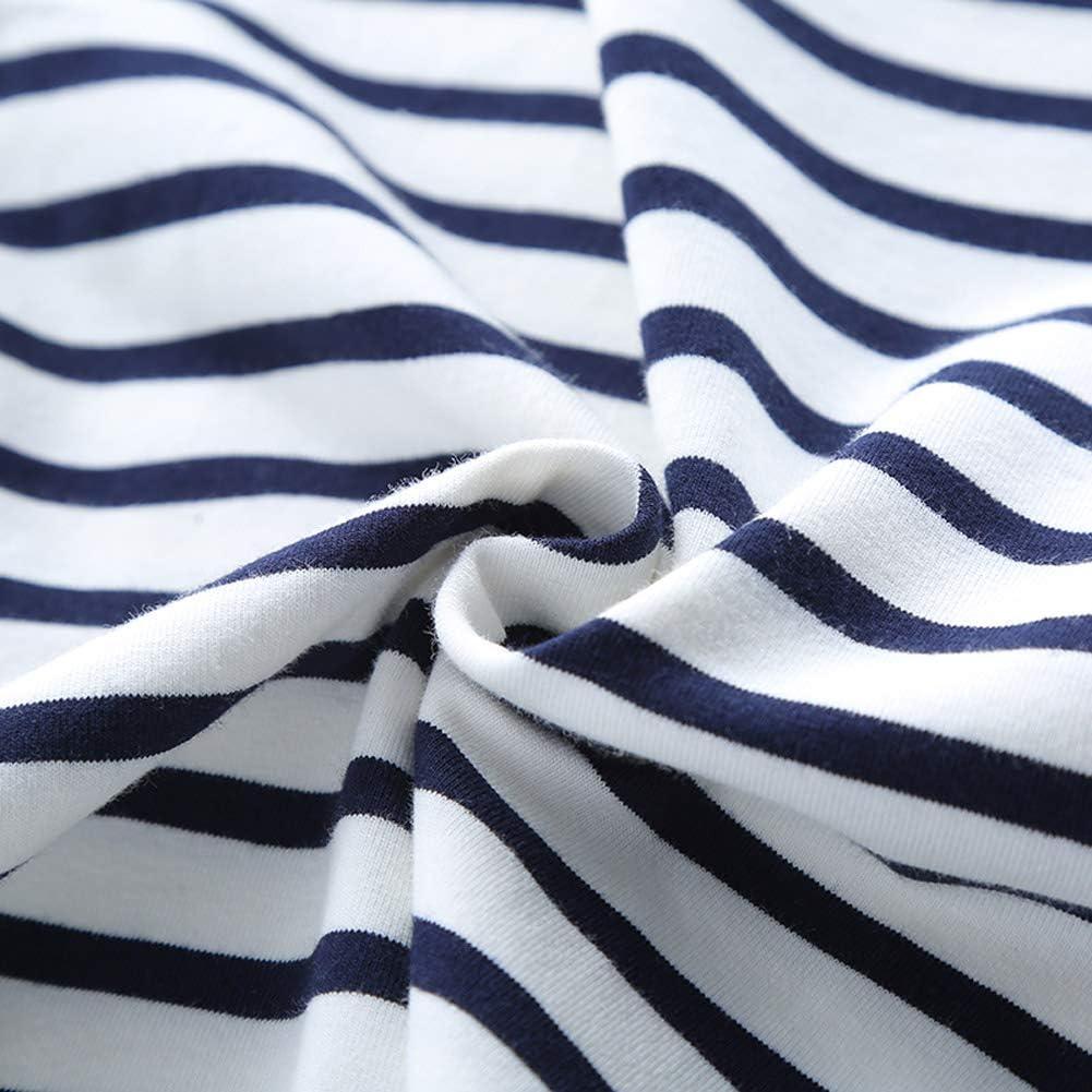 ggudd Jungen Gestreift Lange /Ärmel T-Shirt Dehnbare Kleidung f/ür 2-7 Jahre