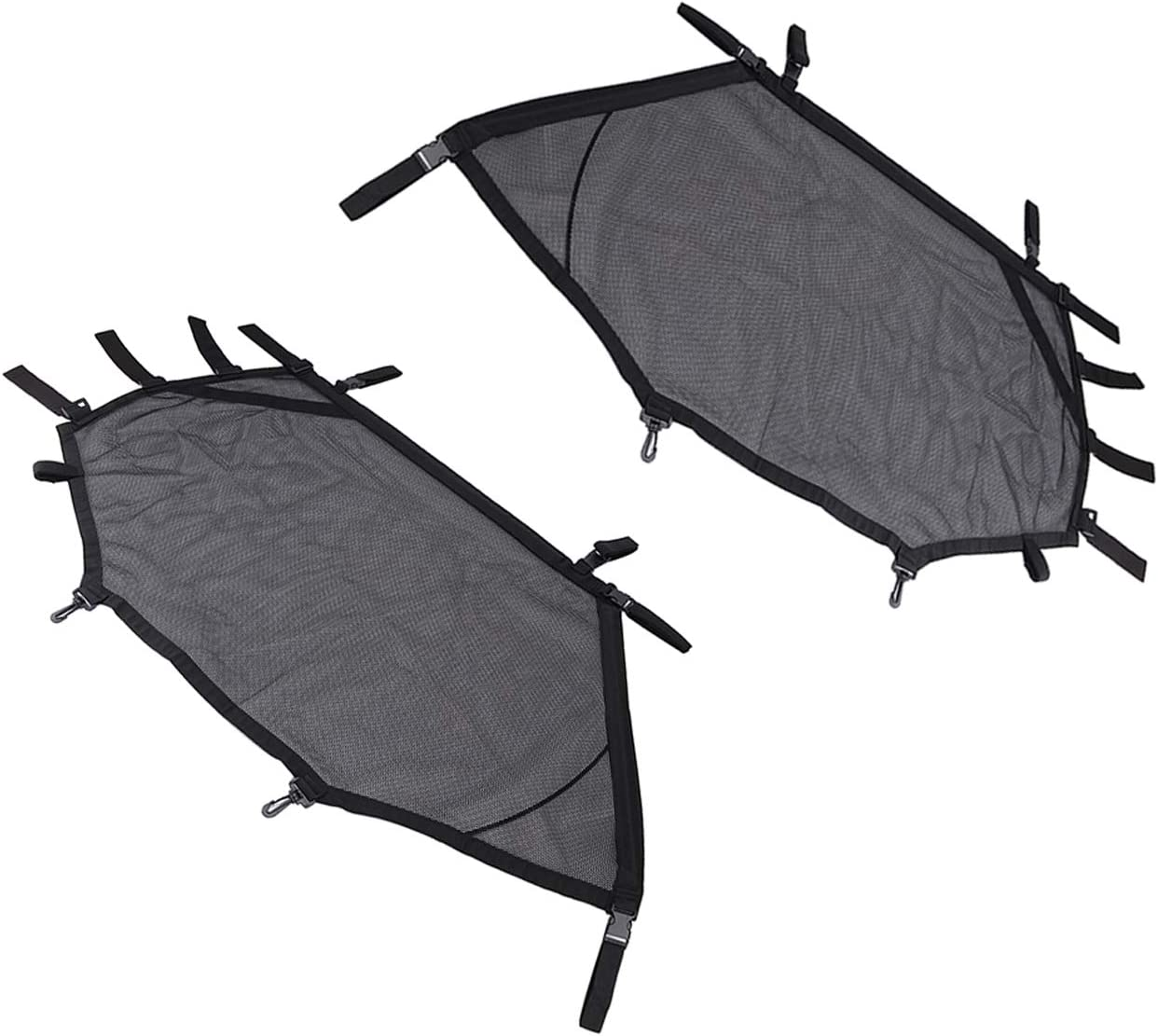 Front Rear Window Wind Screen Shade Shield Cover Window Mesh Net Door Scratch Prevention Protection Soft Top Mesh Roof Sunshade Cover for Polaris RZR 570 800 900 turbo s 1000 XP 900 S 1000 S