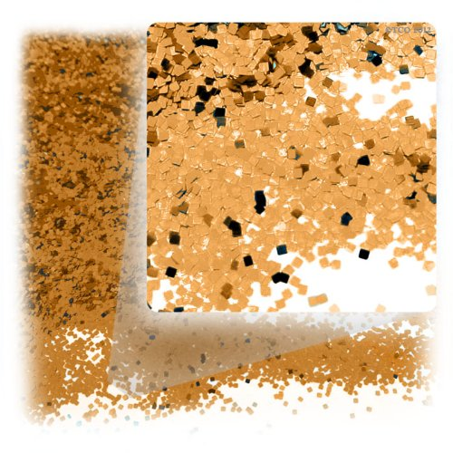 The Crafts Outlet Polyester Decoration Metallic Glitter Square, 1-Ounce, Gold