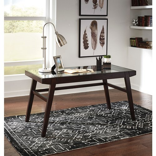 Home Office Desk Dark Brown by Ashley Furniture (Image #1)