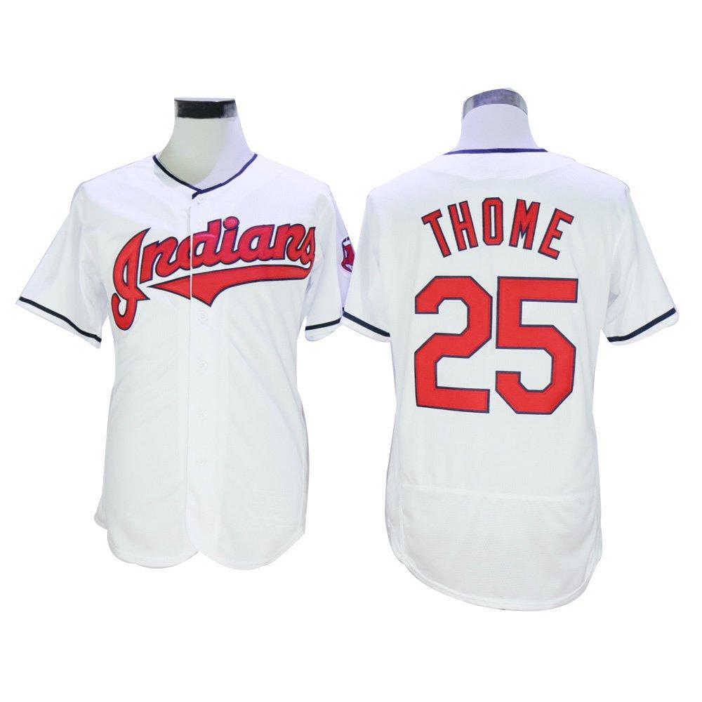 25 # Thome JerseyホワイトサイズS 3 X Lメンズ野球ジャージ B01JM8UZE6ホワイト O