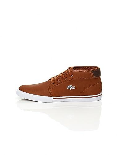 98f178d6e Amazon.com | Lacoste Men's 'Ampthill' Sneakers EUR 41 Tan | Shoes