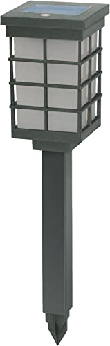 Brinkmann 822-1651-2 Modern Pagoda Solar Light Set Silver, 2-Pack