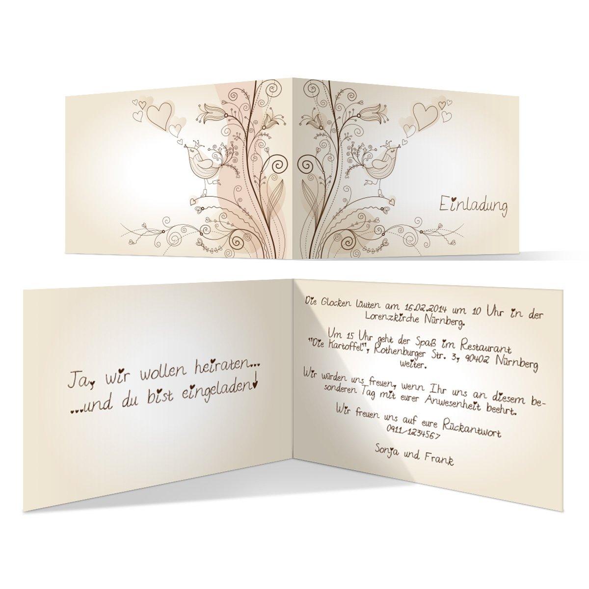 Einladungskarten Hochzeit Amazon