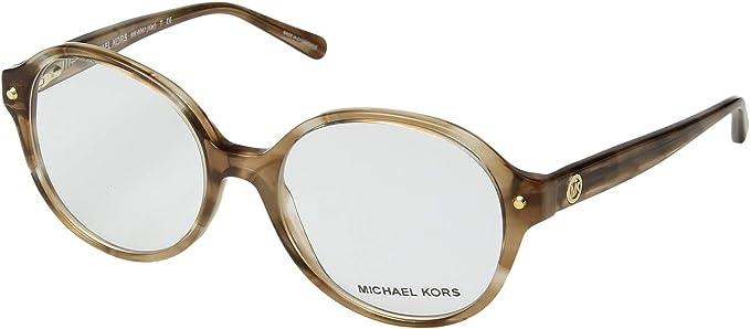 299df5b4fc8 Amazon.com  Eyeglasses Michael Kors MK 4041 3235 BROWN FLORAL  Clothing
