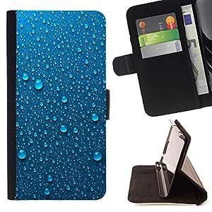 - METAL RAIN DEW DROPS DROPLETS WATER - - Prima caja de la PU billetera de cuero con ranuras para tarjetas, efectivo desmontable correa para l Funny HouseFOR Samsung Galaxy S6