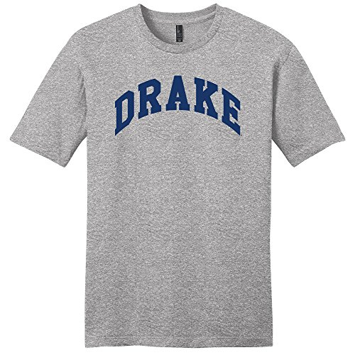 Campus Merchandise NCAA Drake Bulldogs University Arch Soft Style T-Shirt, X-Large, Light Heather Grey