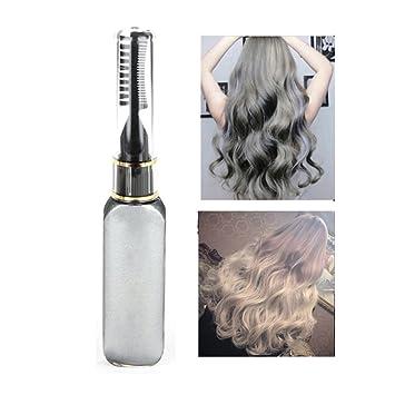 Mascara de pelo profesional de tinte de pelo de color temporal del pelo no tóxico rayas toque de plata by Molie: Amazon.es: Belleza