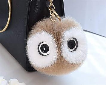 XINSU Decoración Panda Big Eyes Bola de Peluche Llavero ...