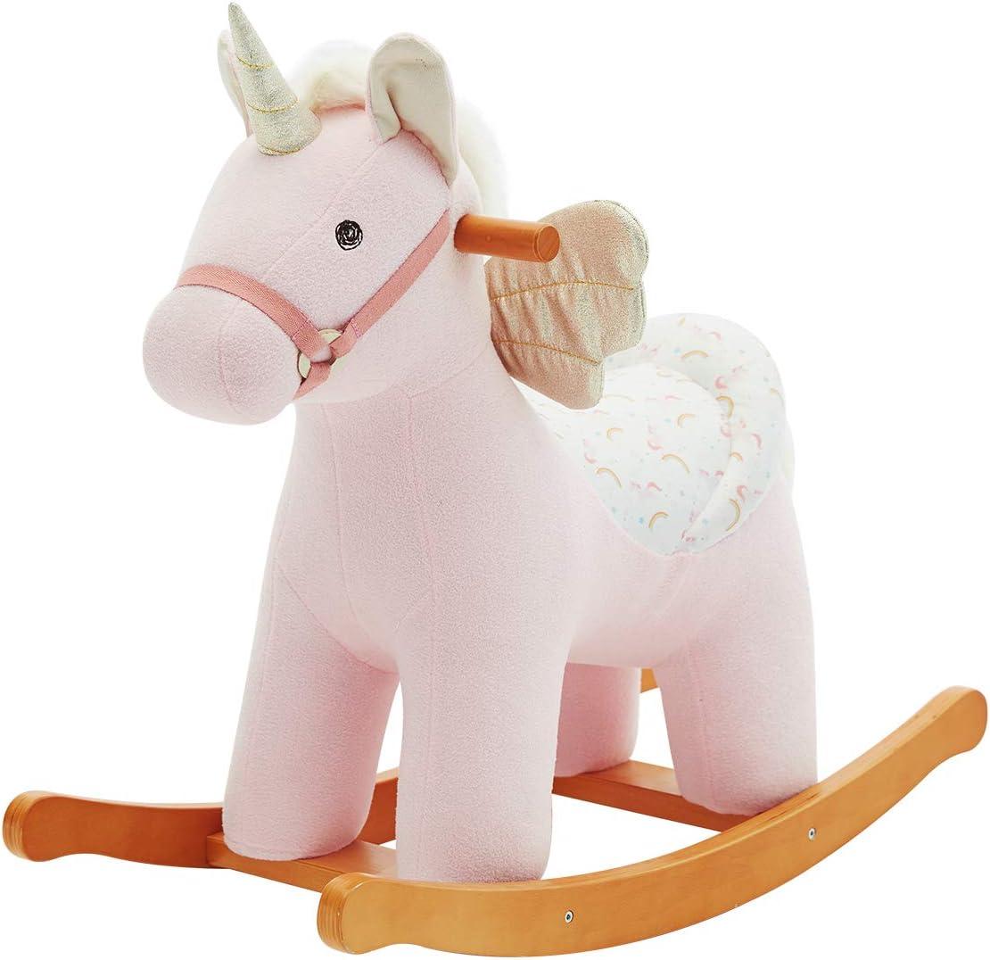 Caballito de Madera, Unicornio Alado Caballo balancin, Caballos de Juguete para Niños, Caballito de Madera/Caballo Juguete/Caballo balancin Madera/Balancines Infantiles/Caballo balancin Bebe