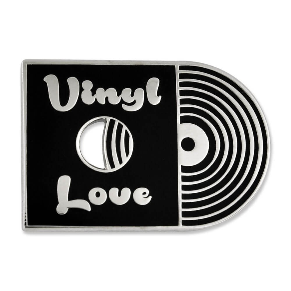 PinMart's Retro Vinyl Love Record Music Trendy Enamel Lapel Pin