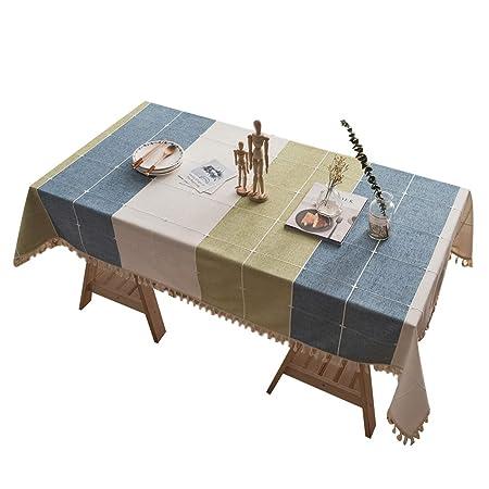 Antitache Lin Table Décoration Rectangulaire a Nappe Manger Nappe Coton Table pour Salle Noel Effet FEOYA Decoration Festive Anniairevers Tl1cKJ3Fu5