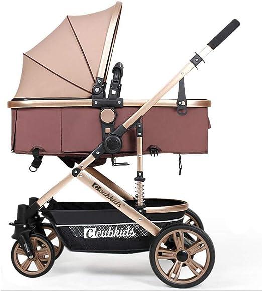 L@LILI Cochecito para bebé, silla plegable con arnés de seguridad ...