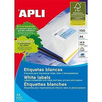 APLI Etiquetas adhesivas para inkjet. laser y fotocopiadoras ...