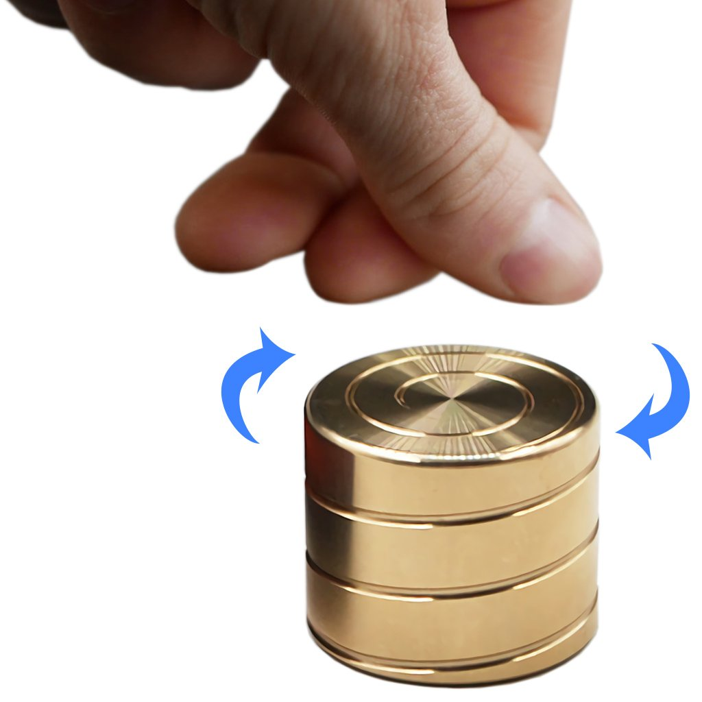 Wewinn Kinetic Desk Toy Adult EDC Toy Anxiety Relief Gadget Gift Create Mesmerizing Optical Illusion and Hypnotic Optical Illusion Relieving Boredom ADHD Anxiety (C1 Brass)