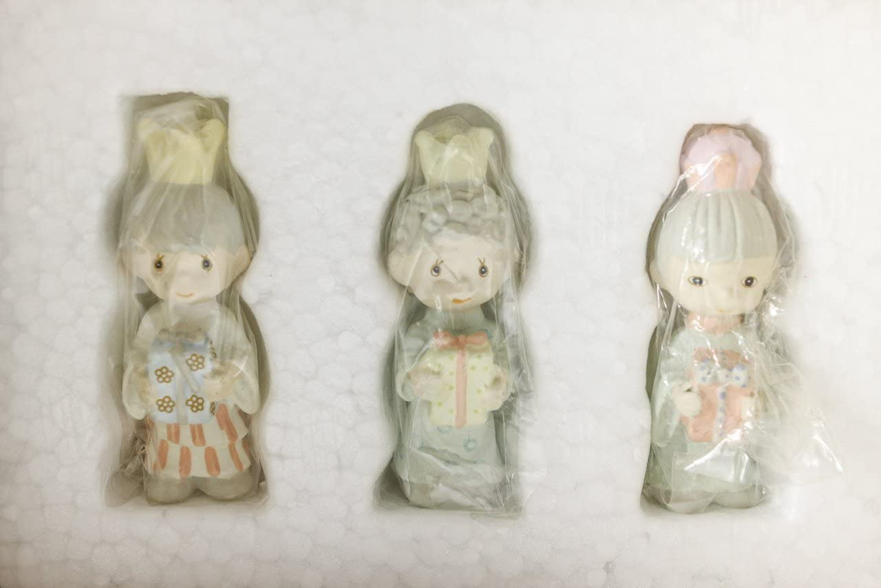 1989 Precious Moments Three Kings Miniature Pewter Set