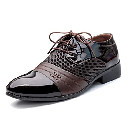 603abe52dc37 Amazon.com  New Men Fashion Breathable Leather Shoes Business Shoes ...