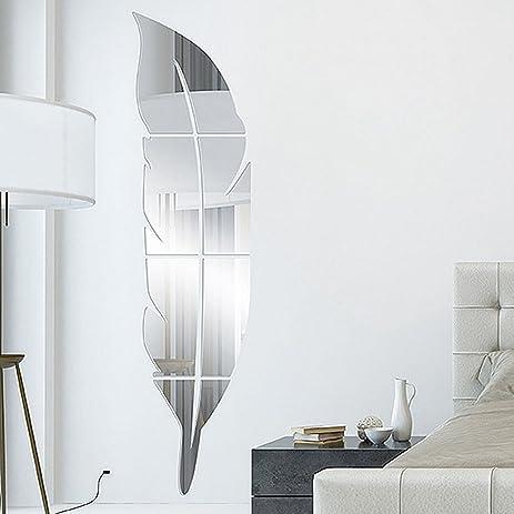 garwarm 3d fashion modern creative removable decorative acrylic frameless mirror wall art sticker mural for home - Stickers Muraux Design Decoration