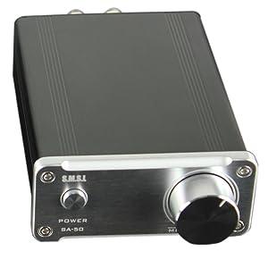 SMSL SA50 50Wx2 TDA7492 Class DAmplifier + Power Adapter (Silver)