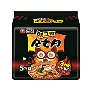 [Nongshim] 3X Spicy Angry Neoguri Noodle Soup (Pack of 5) / RTA / Spicy Seafood Udon / Korean food / Korean ramen (overseas direct shipment)