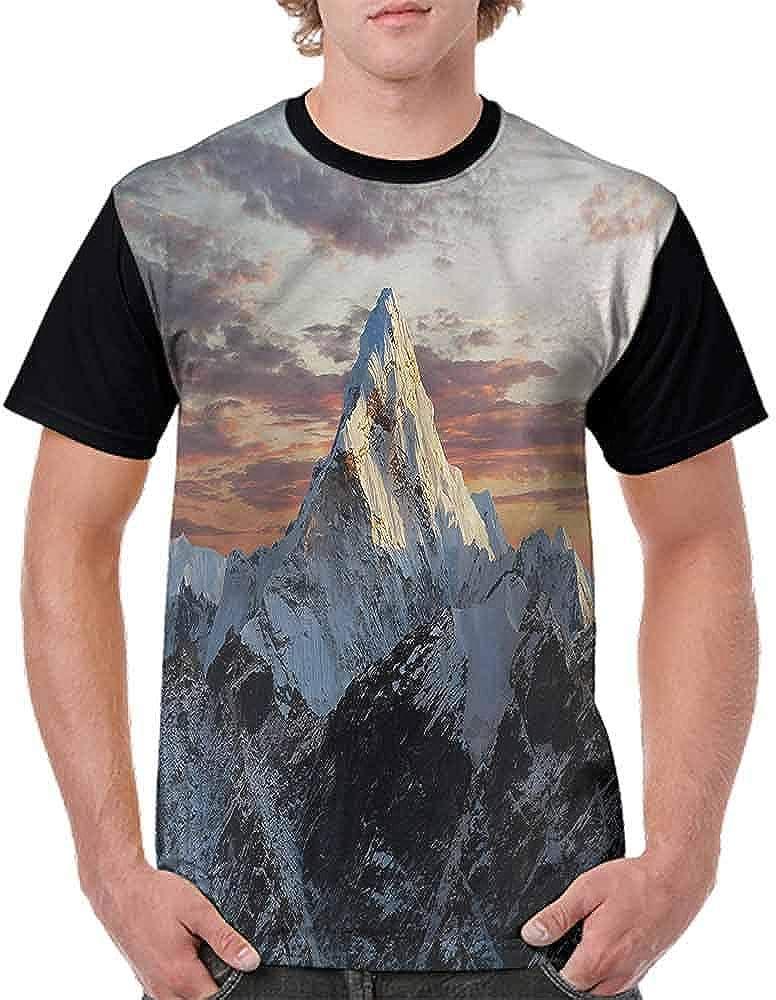 Casual Short Sleeve Graphic Tee Shirts,Mountain Nepal Everest Fashion Personality Customization