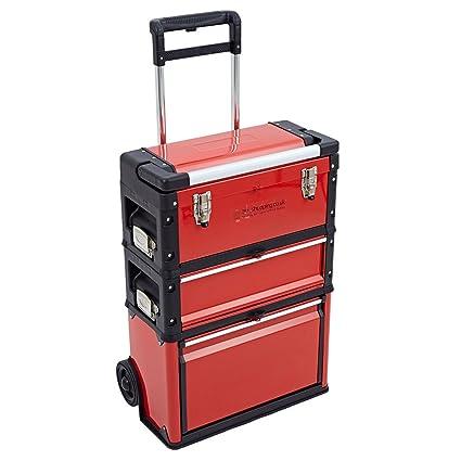Caja de herramientas 3 en 1, de la marca Trueshopping, con ruedas y 3